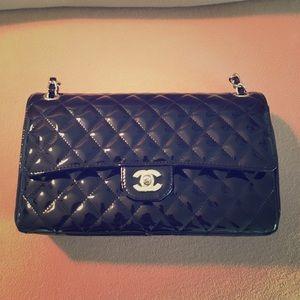 Chanel Caviar Patent Leather Handbag